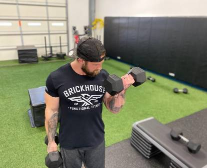 Tony Polidoro working out