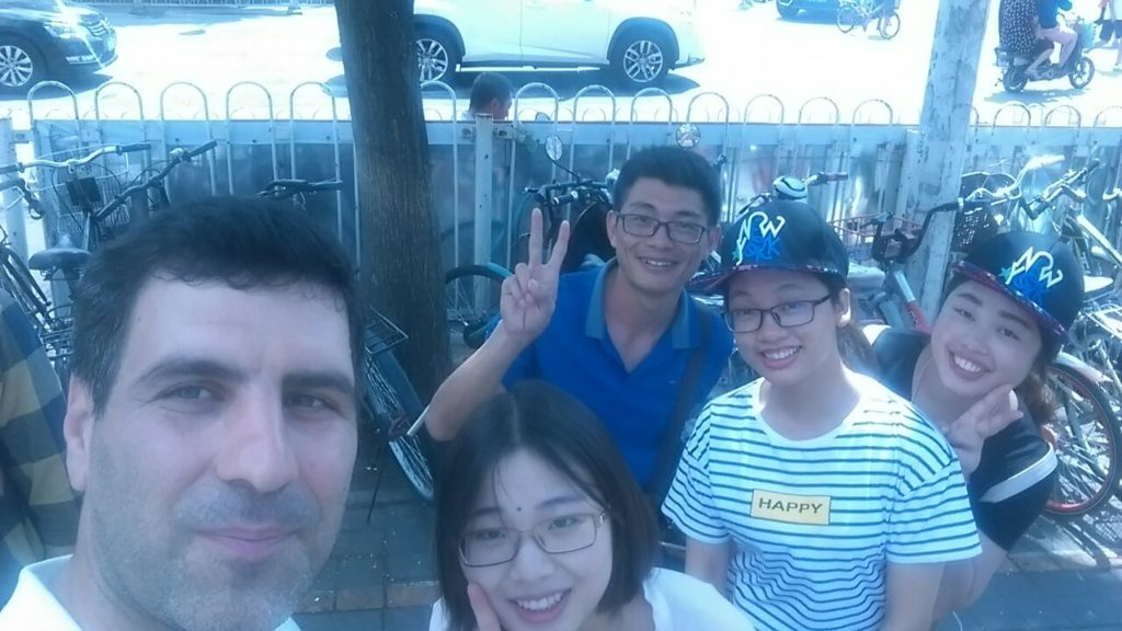 With Chinese friends