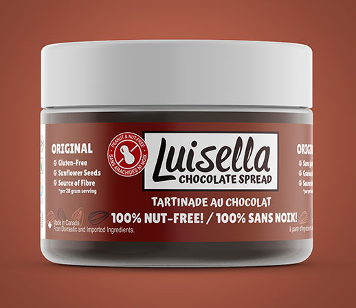 luisella original chocolate spread | made with sunflower seeds