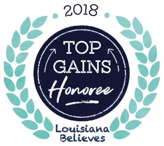 2018 Top Gains Honoree - Louisiana Believes