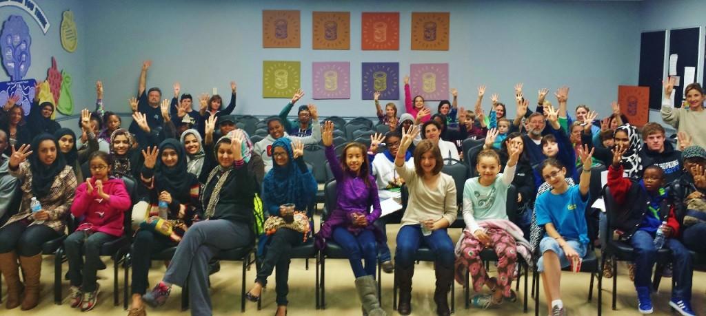 Volunteers at the Atlanta Community Food Bank