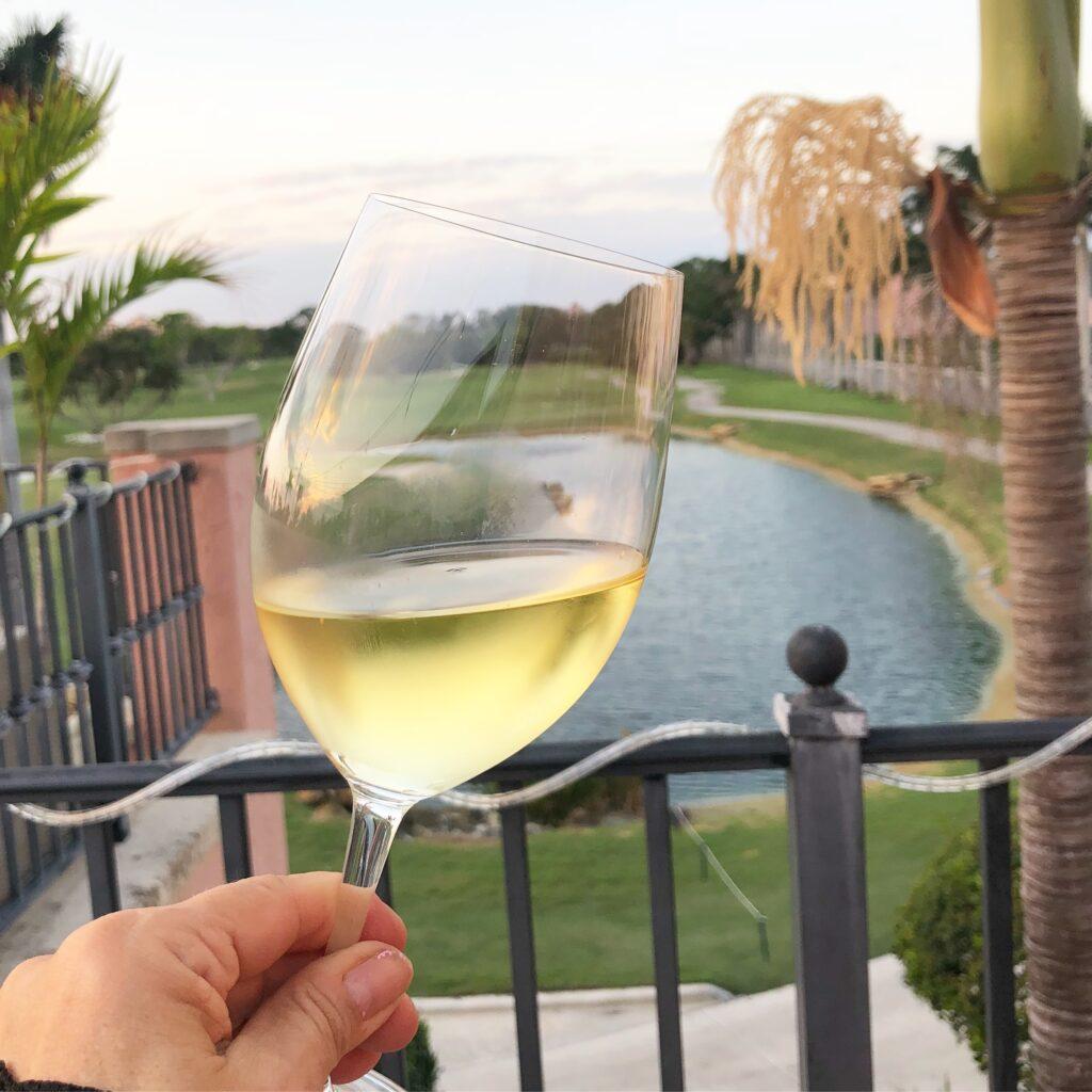 Glass of wine
