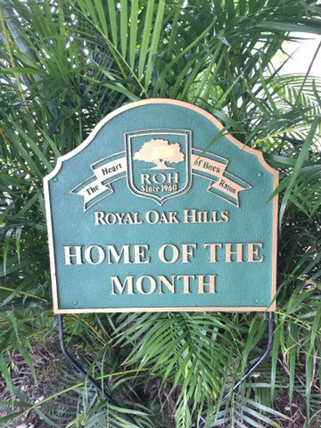 Home of the month sign
