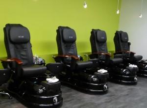 Modern pedicure massage chairs