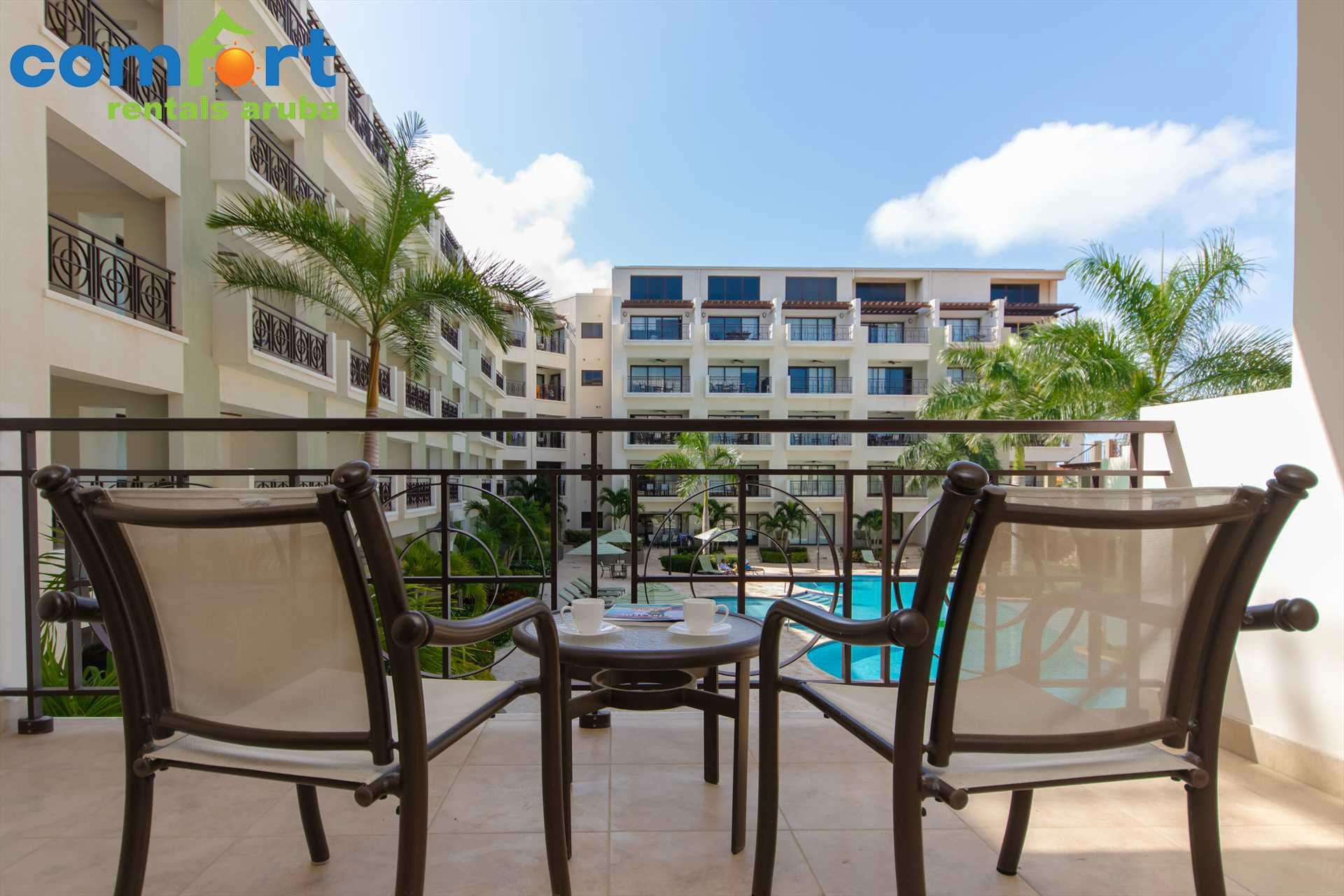 Paradise awaits at the Mazari Palm Two-bedroom condo