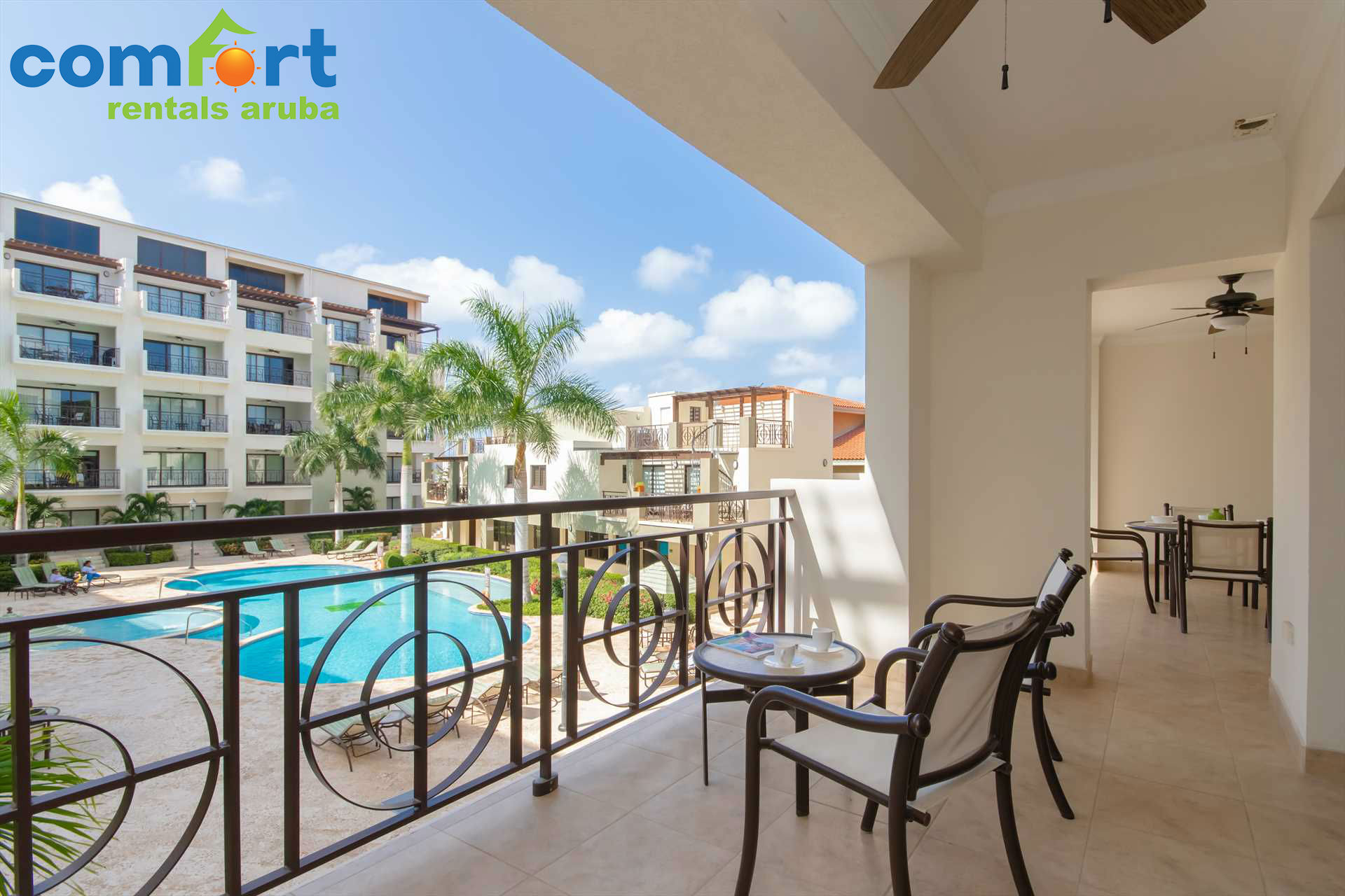Lounge out on your spacious double balcony and enjoy Aruba's signature weather