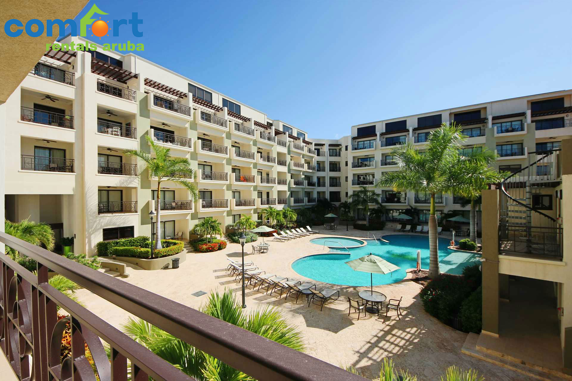 Sit on your balcony and enjoy your amazing pool view!