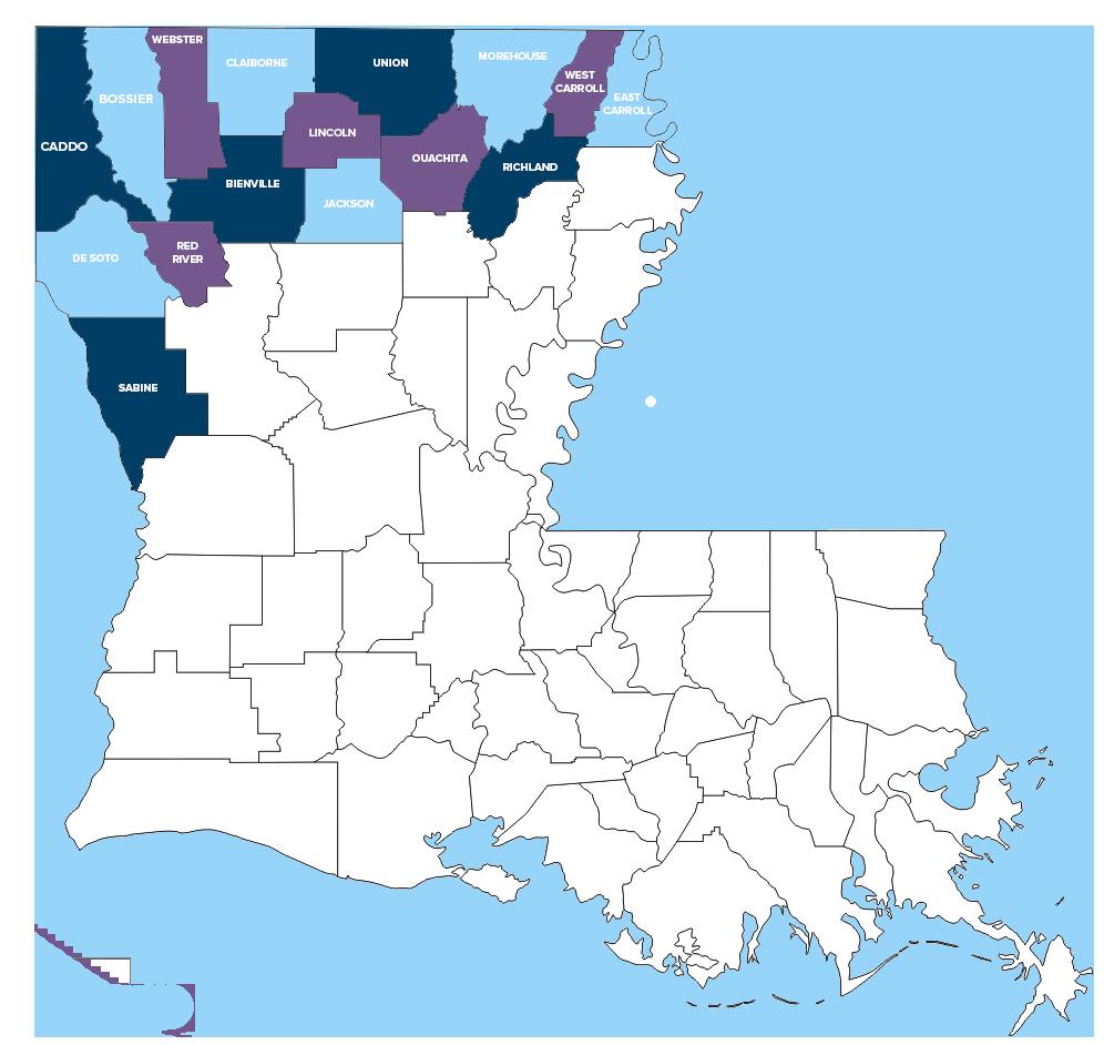 CCNLA service area 16 civil parishes