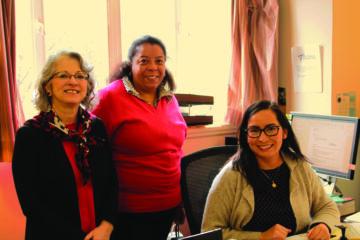 Briana Bianca, Gilda Rada and Andrea Ortega of the Immigration Legal Services Team