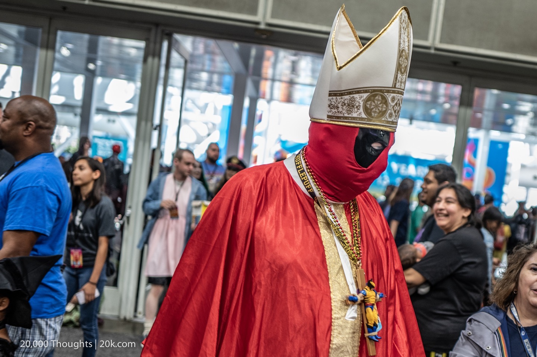 LA Comic Con Deadpool Cosplay Pope