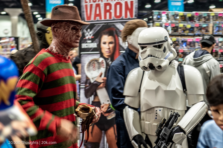 LA Comic Con 2018 Storm Trooper Freddy Krueger Cosplay