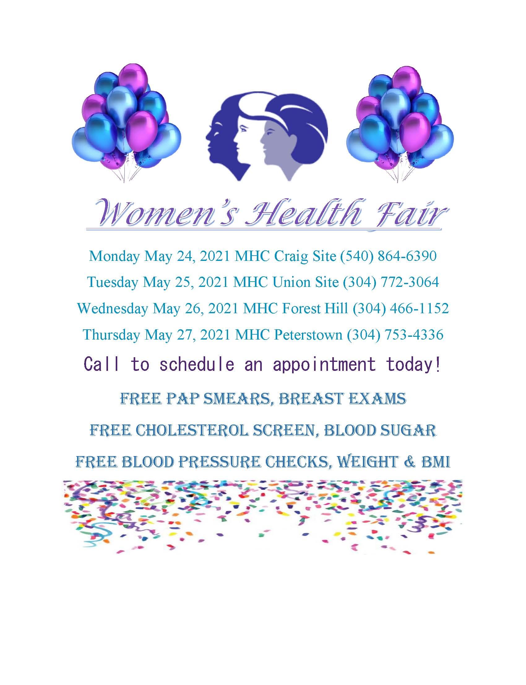 Women Health Fair Flyer - All sites