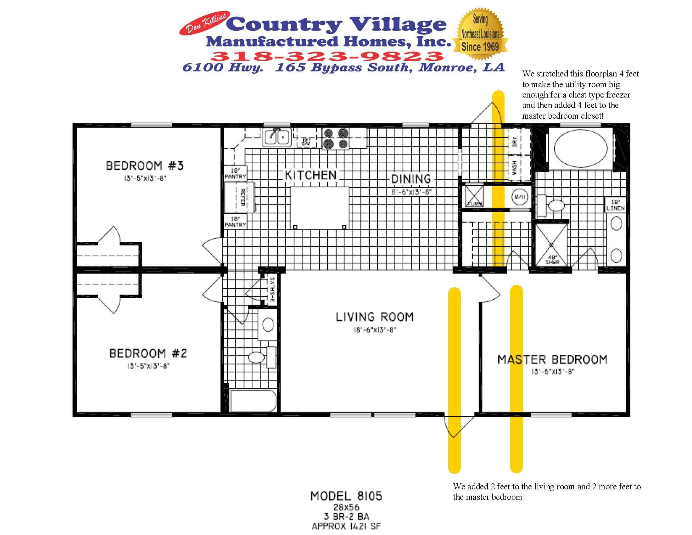 8105 Big Foot FS 28x60 Custom Floorplan 3+2