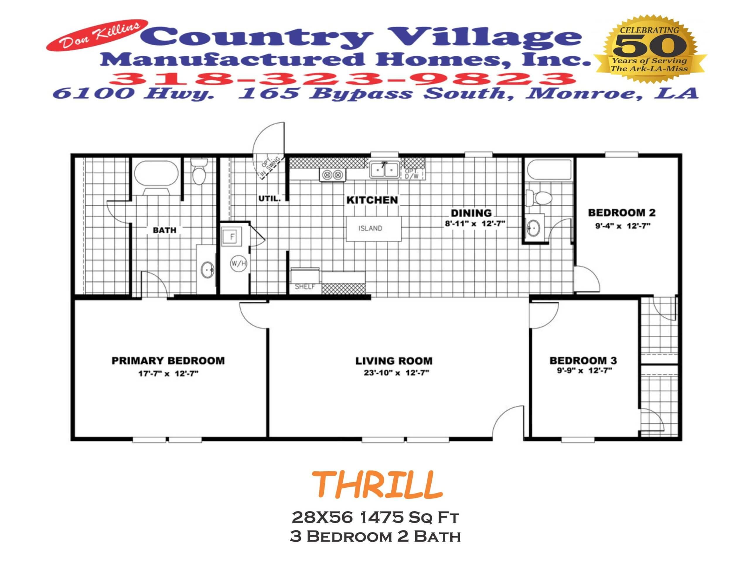 THRILL 28X56 1475 sq ft 3+2
