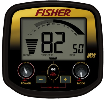 Fisher Gold Bug faceplate