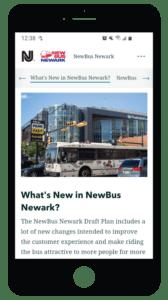 NJ TRANSIT Story Map mobile phone