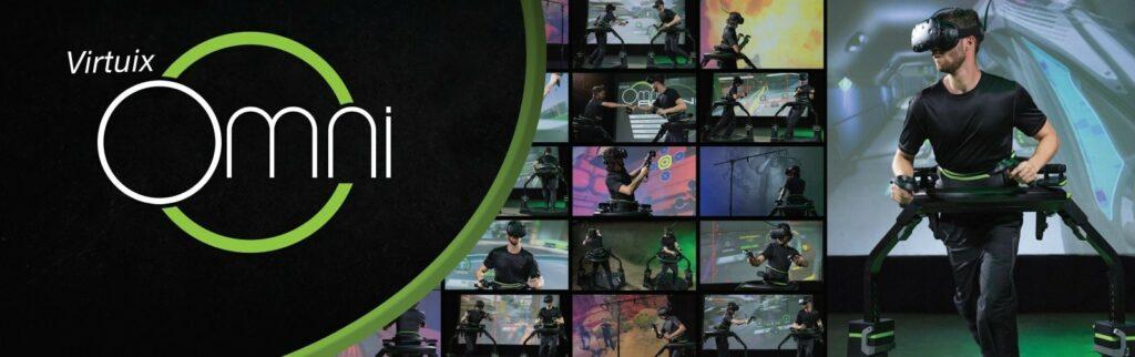 Virtuix Omni image of player on the Omni treadmill