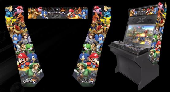 Super Smash Bros Arcade machine
