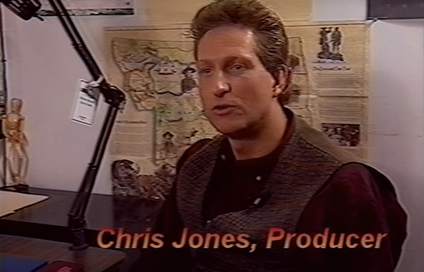 Chris Jones talks about computer technology in the making of The Pandora Directive