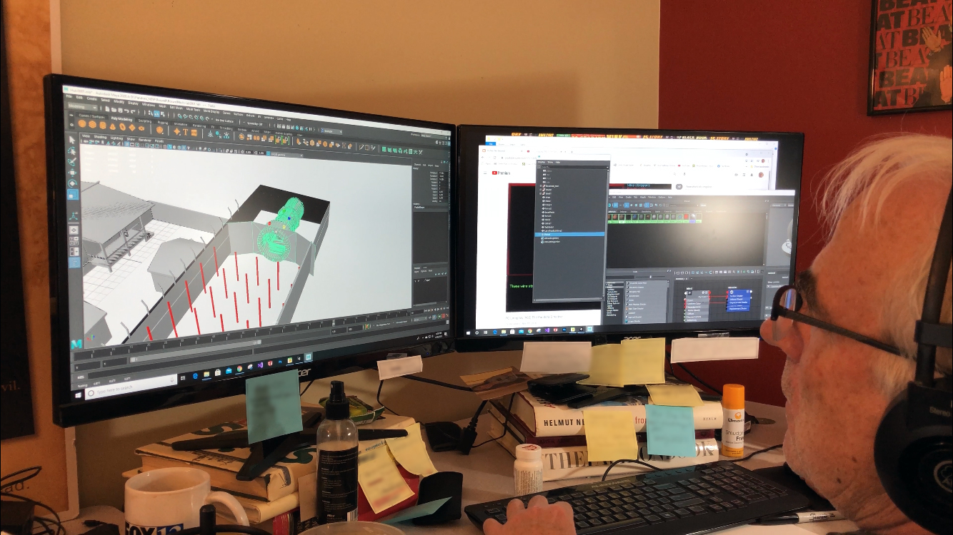 Doug Vandegrift working on the Roswell location from the original level assets.