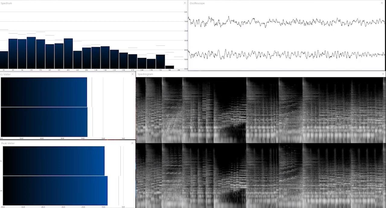 audio spectrum analysis of Pandora music.