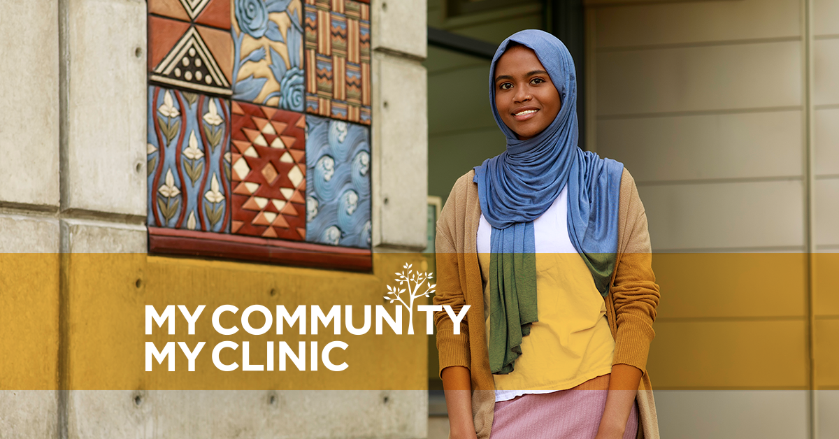 My Community my clinic with young woman