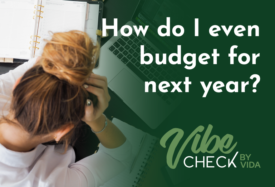 How do I even think about budgeting for 2022?