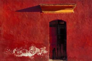 Oaxaca Red Wall • ©Barry Brukoff