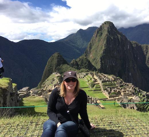 Elizabeth At Machu Picchu