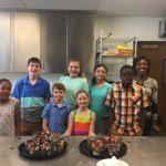 Children Making Chocolate Mud Cups