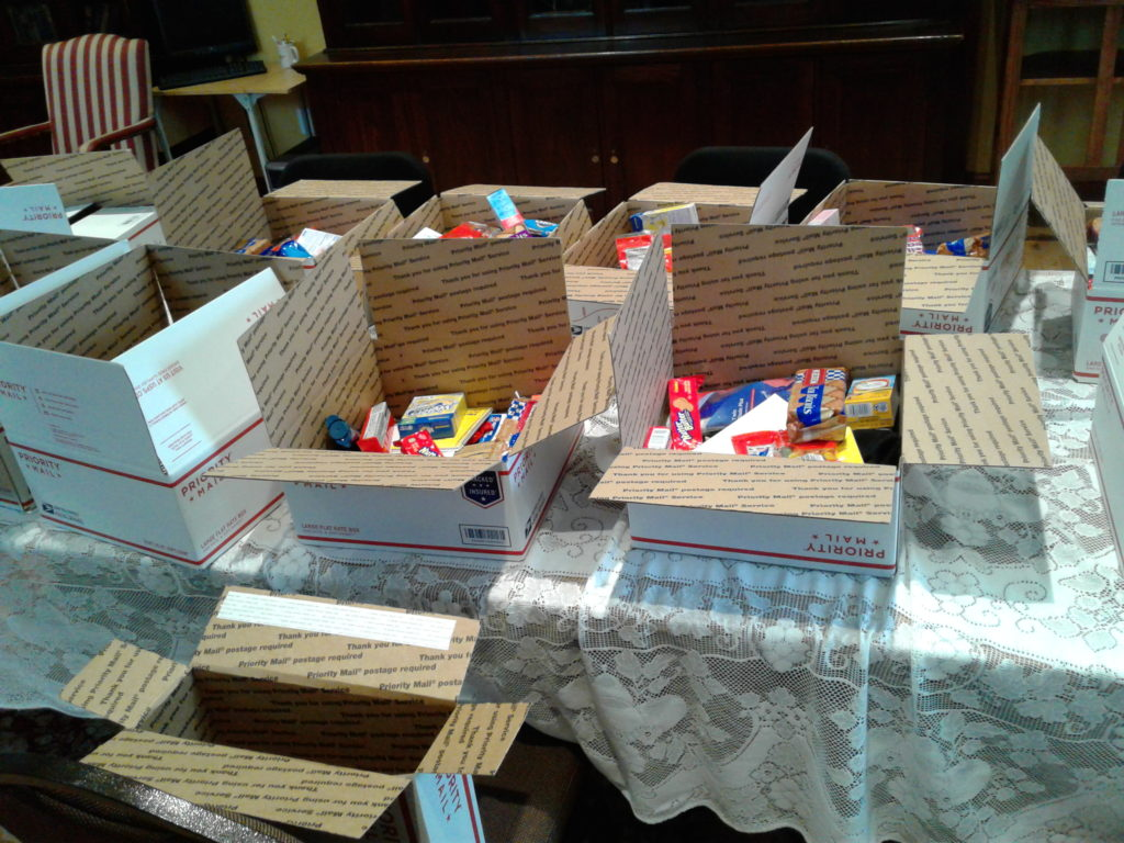 Care Packages for US Service Men and Women