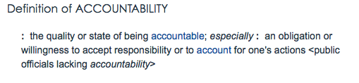 Is the country in this accountable state of being? Definition: Merriam-Webster.com