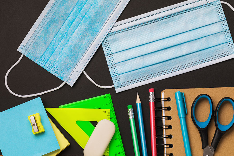 Home page, Masks, office and work from home supplies