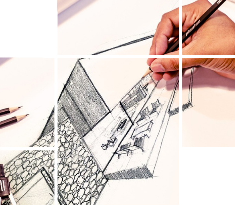 A hand-made illustration