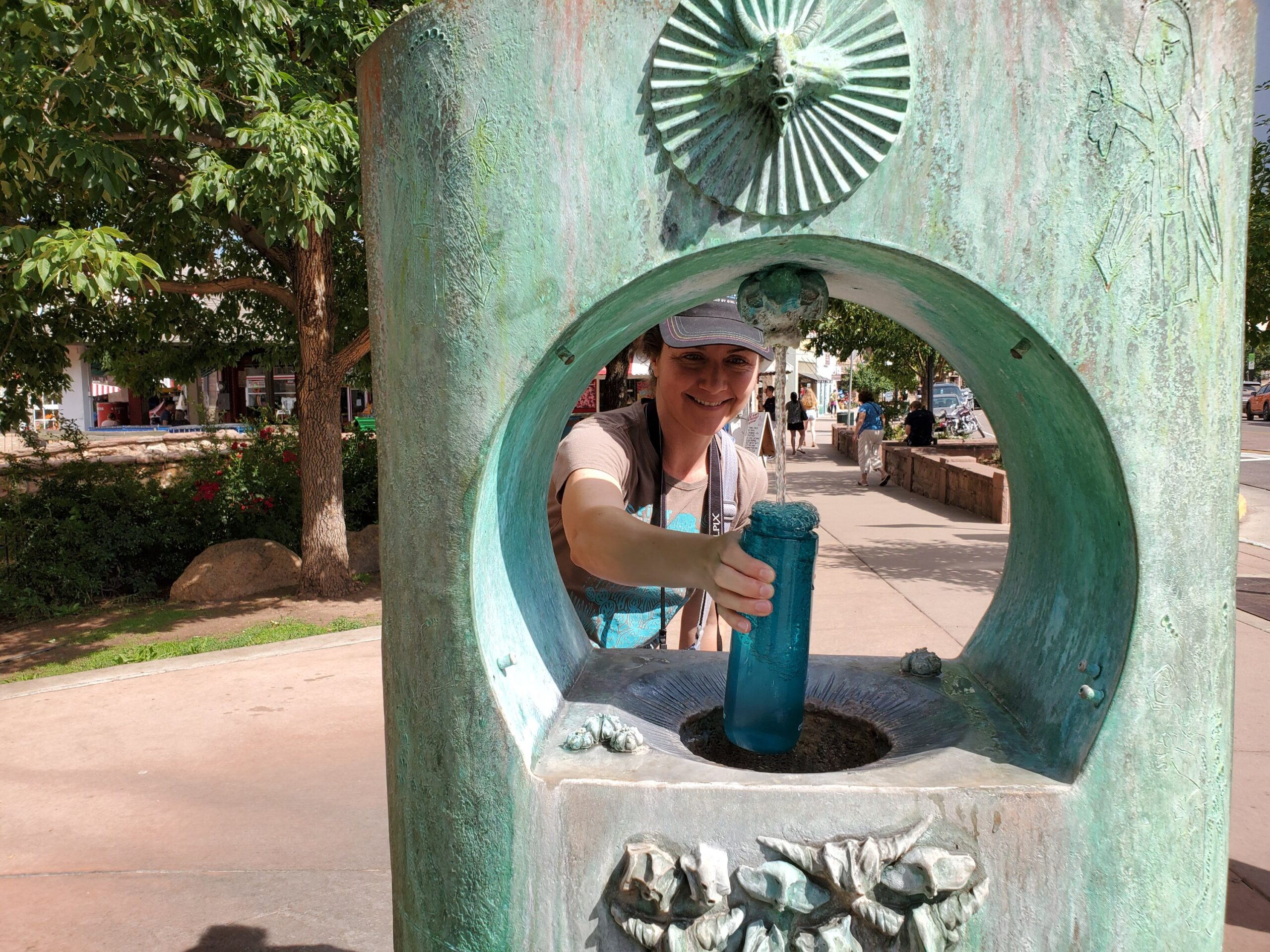 Mandy at the Mineral Water Fountain in Manitou