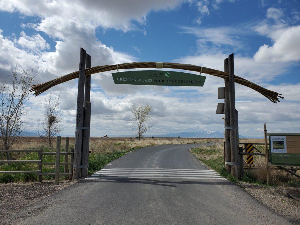 The gate at GSL Shorelands Preserve