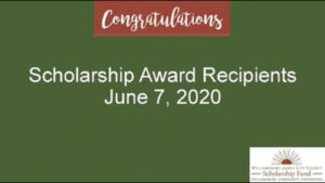 2020 Scholarship Awards Ceremony (Student Pictures)