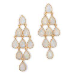 14 karat gold earring, chandelier earring