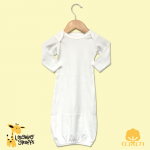 Scallop Trim Sleeper Baby Gown - Christening Garment