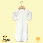 Scallop Trim Sleeper Baby Gown - Christening Garment