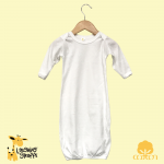 Long sleeves baby night gown with elastic bottom