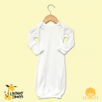 Long Sleeve Baby Sleep Gown with Fold Over Mittens