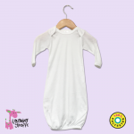 Long Sleeve Baby Gown - 100% Polyester