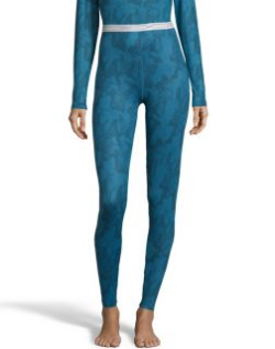 women's cold weather print thermal base layer pant