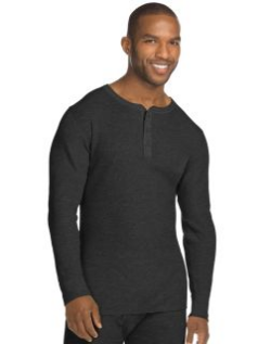 Men's black thermal long sleeve
