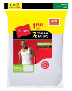 Hanes Men's TAGLESS® ComfortSoft® A-Shirt 7-Pack (- flannels