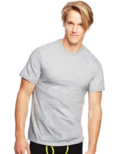 hanes men's ultimate freshiq tall man crew neck tee