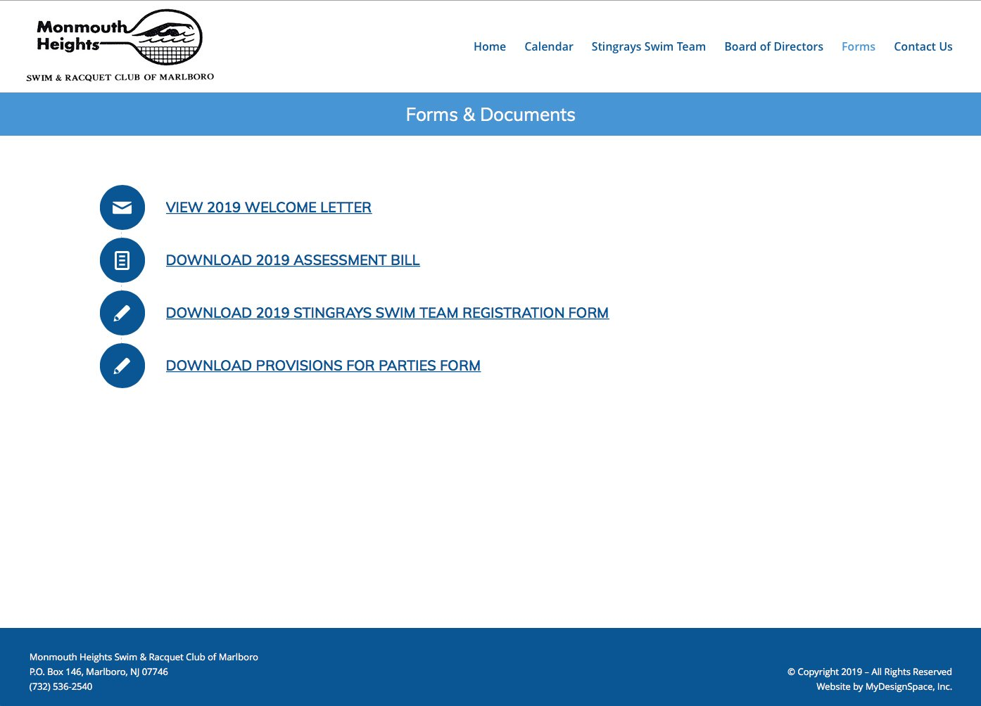 MHSRC Forms Page