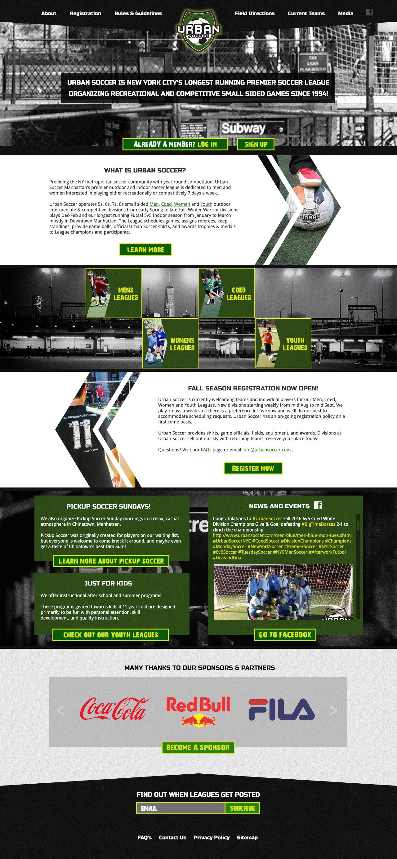 Urban Soccer NYC Home Page