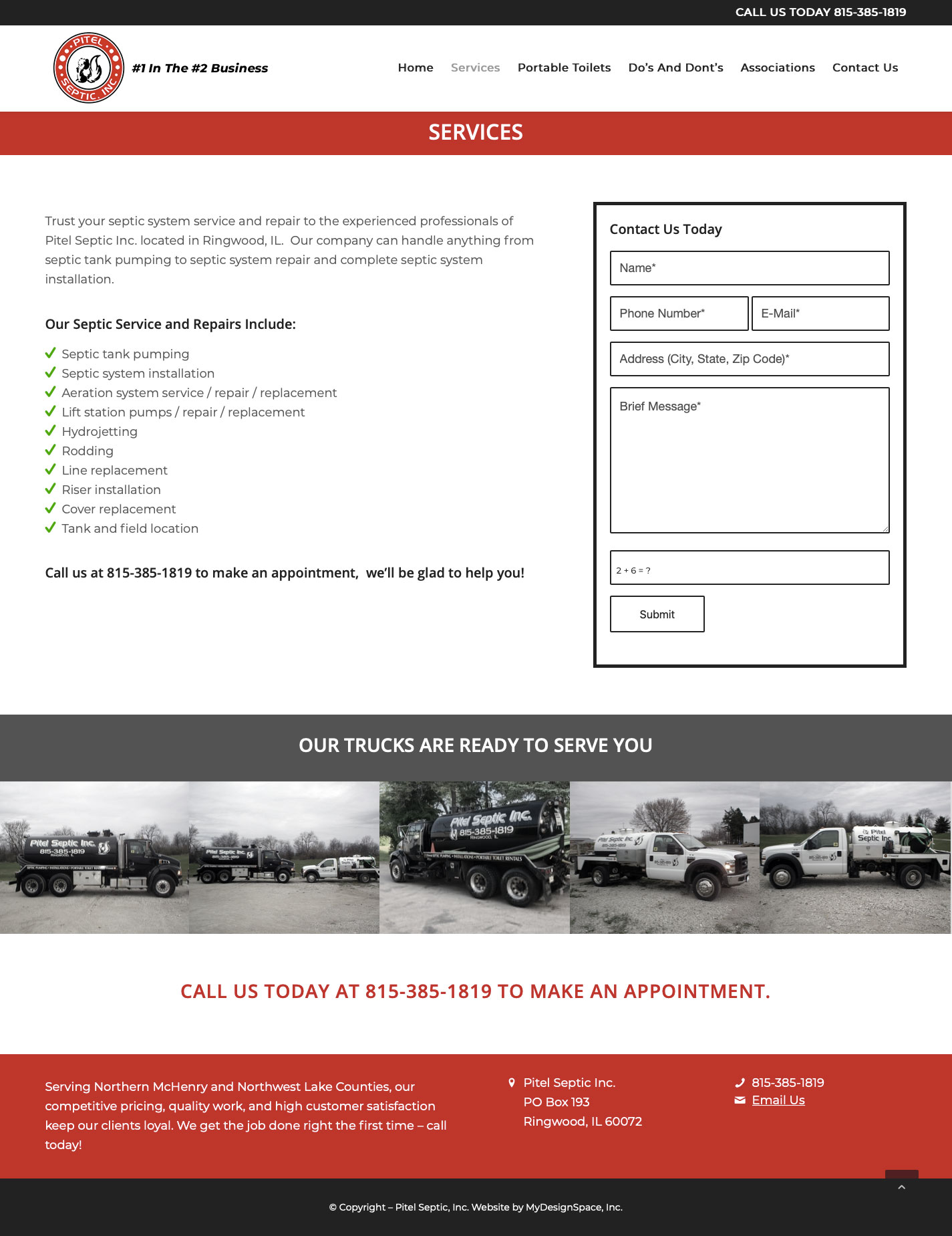 Pitel Services Page